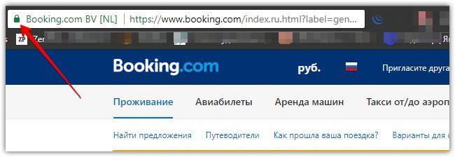 Пример отображения иконки сайтов в браузере которые работают на HTTPS